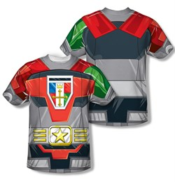 Voltron Shirt Costume Sublimation T-Shirt Front/Back Print