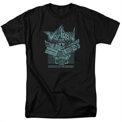Voltron Shirt Defender Rough Adult Black Tee T-Shirt