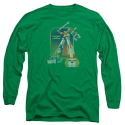 Voltron Shirt Distressed Defender Long Sleeve Kelly Green Tee T-Shirt