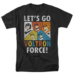 Voltron Shirt Force Adult Black Tee T-Shirt