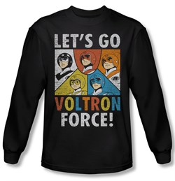 Voltron Shirt Force Long Sleeve Black Tee T-Shirt
