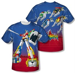 Voltron Shirt Form Voltron Sublimation T-Shirt Front/Back Print