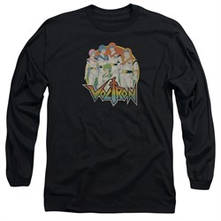 Voltron Shirt Group Long Sleeve Black Tee T-Shirt
