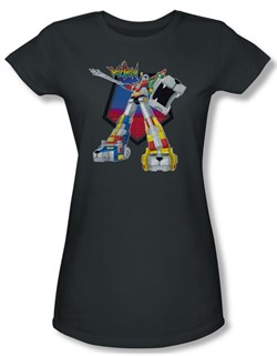 Voltron Shirt Juniors Blazing Sword Charcoal Tee T-Shirt