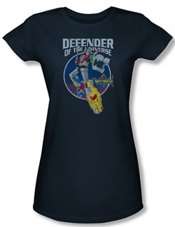 Voltron Shirt Juniors Defender Navy Blue Tee T-Shirt