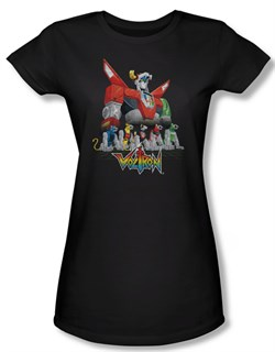Voltron Shirt Juniors Lions Black Tee T-Shirt