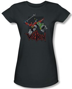 Voltron Shirt Juniors Roar Charcoal Tee T-Shirt