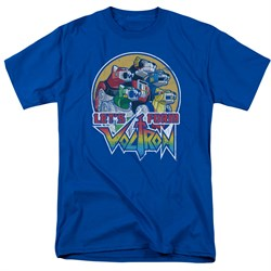 Voltron Shirt Let's Form Adult Royal Blue Tee T-Shirt