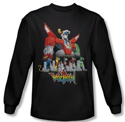 Voltron Shirt Lions Long Sleeve Black Tee T-Shirt