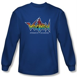 Voltron Shirt Logo Long Sleeve Royal Blue Tee T-Shirt