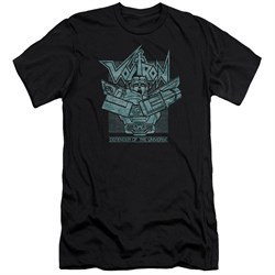 Voltron Shirt Slim Fit Defender Rough Black Tee T-Shirt