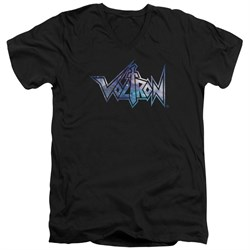 Voltron Shirt Slim Fit V-Neck Space Logo Black Tee T-Shirt