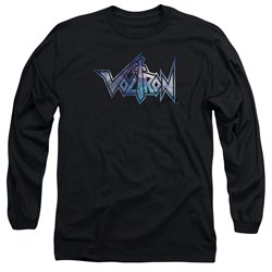 Voltron Shirt Space Logo Long Sleeve Black Tee T-Shirt