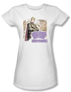 Watchmen Juniors T-shirt Movie Superhero Ozymandias White Tee Shirt