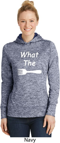 Image of What the Fork WTF Ladies Moisture Wicking Hoodie