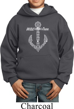 Image of Wild and Free Anchor Kids Hoody