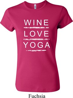 Image of Wine Love Yoga Ladies Crewneck Shirt