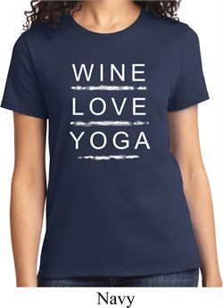 Image of Wine Love Yoga Ladies Shirt