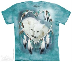 Image of Wolf Heart Shirt Tie Dye Adult T-Shirt Tee