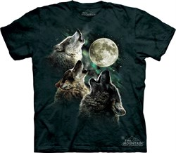 Image of Wolf Shirt Three Wolf Moon Tie Dye T-shirt Adult Tee