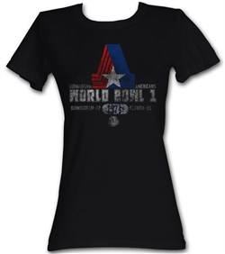 Image of World Football League Juniors T-Shirt World Bowl 1 Black Tee Shirt