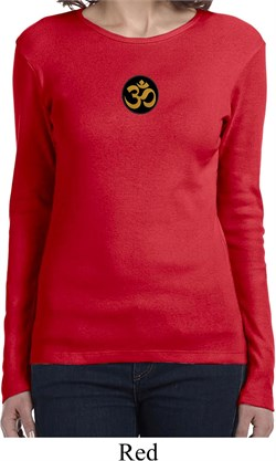 Image of Yoga Gold AUM Patch Ladies Long Sleeve Shirt