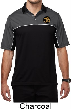 Image of Yoga Gold AUM Patch Pocket Print Mens Polo Shirt