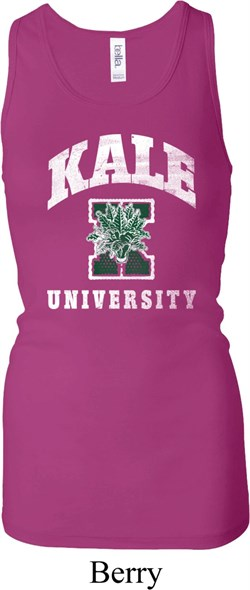Image of Yoga Kale University Darks Ladies Longer Length Racerback Tank Top