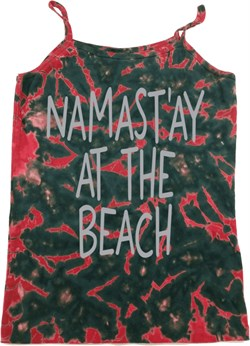 Image of Yoga Namastay at the Beach Ladies Tie Dye Camisole Tank Top