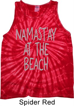 Image of Yoga Namastay at the Beach Tie Dye Tank Top