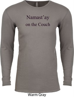 Image of Yoga Namastay Home on the Couch Long Sleeve Thermal Shirt