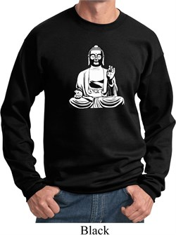 Image of Yoga Sweatshirt At Peace Buddha Sweat Shirt