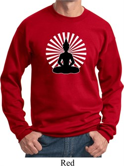 Image of Yoga Sweatshirt Meditating Buddha Sweat Shirt