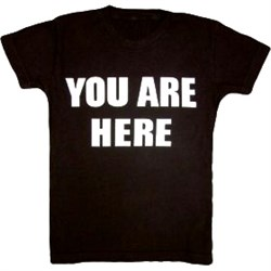 Image of YOU ARE HERE Funny Novelty Adult T-shirt