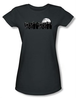 Image of Zombie Juniors T-Shirt Moon Charcoal Tee Shirt