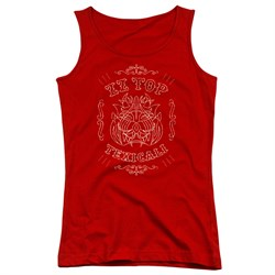 Image of ZZ Top Juniors Tank Top Texicali Demon Red Tanktop