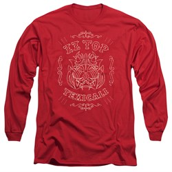 Image of ZZ Top Long Sleeve Shirt Texicali Demon Red Tee T-Shirt