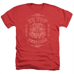 Image of ZZ Top Shirt Texicali Demon Heather Red T-Shirt