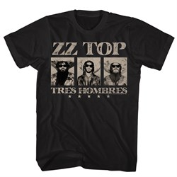 Image of ZZ Top Shirt Tres Hombres Black T-Shirt