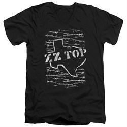 ZZ Top Slim Fit V-Neck Shirt Barbed Black T-Shirt