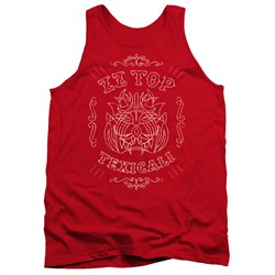 Image of ZZ Top Tank Top Texicali Demon Red Tanktop