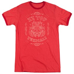 Image of ZZ Top Texicali Demon Red Ringer Shirt