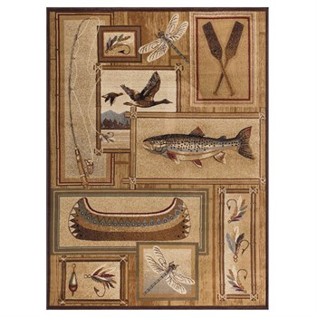 Nature Ivory Fishing Area Rug from Wayfair!