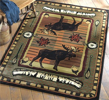 Wilderness Stream Moose Rug from The Cabin Place!