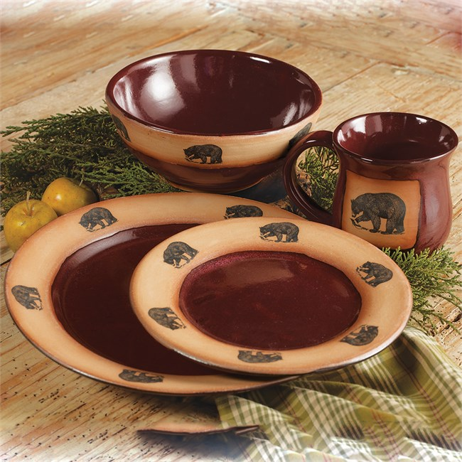 Red Lodge Bears Dinnerware Set