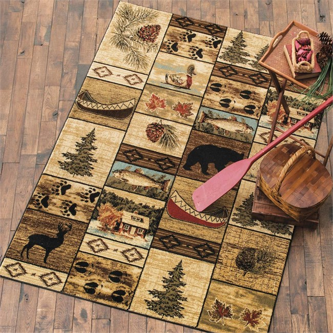 Cabin Home Rug from Black Forest Decor!