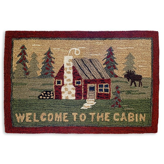 Welcome To The Cabin Accent Rug from The Cabin Place!
