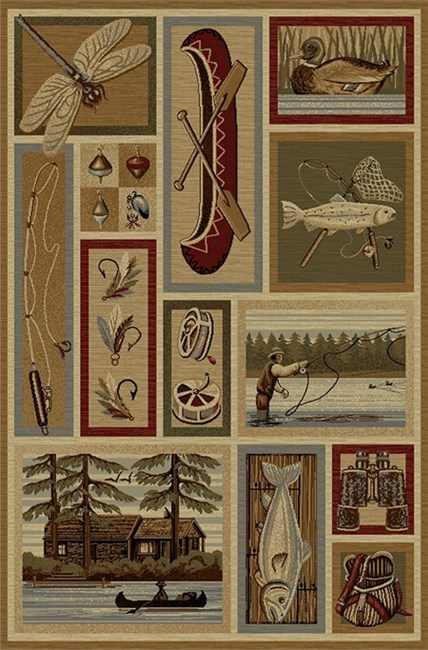 Anglers Dream Area Rug from The Cabin Place!