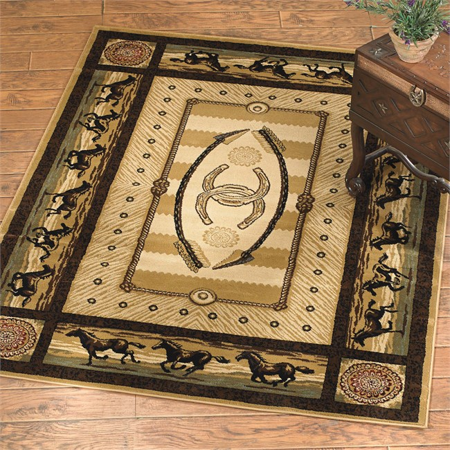 Galloping Horses Rug from The Cabin Place!