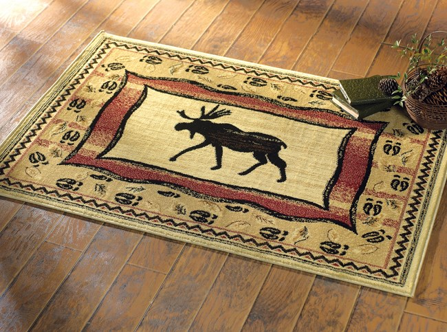 Moose Tracks Area Rug from The Cabin Place!